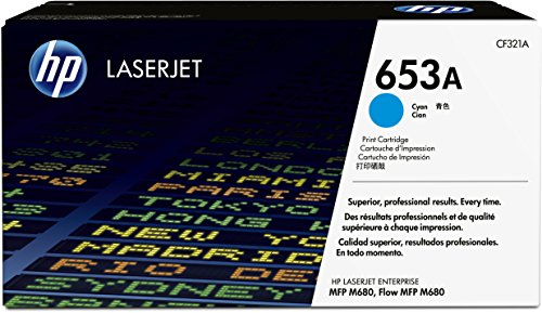 HP 653A (CF321A) Blau Original Toner für HP Color Laserjet Enterprise M680