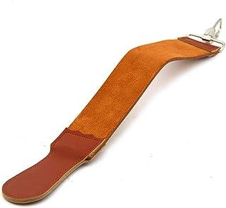 حزام كايلينغ مستقيم مبراة للماكينة حزام مقلّد من الجلد الأصلي مع مركب تلميع شحذ لماكينة الحلاقة مستقيمة من GT01