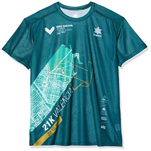 Luanvi Maraton Vcia Fta17 C Camiseta Técnica Running, Unisex Adulto, Verde, XL
