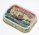 LA QUIBERONNAISE - 1 Boîte de Sardines Millésimées - à la Persillade et à L'huile d'Olive Vierge Extra - Recette Traditionnelle à l'Ancienne - 4 à 6 Sardines - Poids 115gr