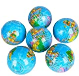 Rhode Island Novelty 3 Inch Globe Stress Ball One Dozen Per Order