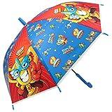 Superzings Regenschirm für Kinder, automatisch, 68 cm, Blau