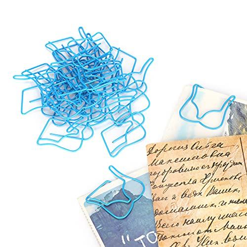 Wosune Clip de Papel, Clip de Papel de Archivo, Alambre Revestido, Mini Clip de Papel portátil, para Oficina en casa, para organizar Documentos
