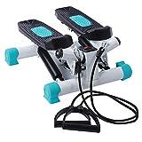 Up Down Stepper Swing Stepper Mini Stepper Tragbarer Twist Stair Stepper Mini Fitnessgerät Heimtrainer Fitnesstraining Swingstepper für Zuhause Heimfitnessgeräte mit LCD Display und Widerstandsbändern