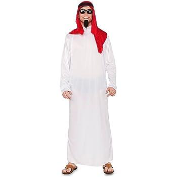 Fyasa 706317-t04 árabe disfraz, tamaño grande, color blanco ...