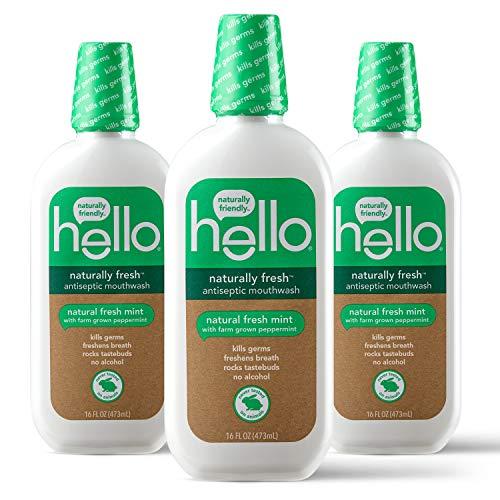 Hello Oral Care Naturally Fresh Antiseptic Fluoride Free...