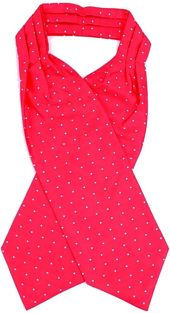 Jacob Alexander Men's Dot Pattern Cravat Ascot Neck Tie - Red White