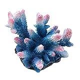 PetPhindU Decoración del Acuario Fish Tank Paisajismo Acuario Paisaje Resina Simulación Coral Reef Coral Group Stone Fish Tank Coral del Ornamento del Acuario Decoración Blue Coral/Amarillo