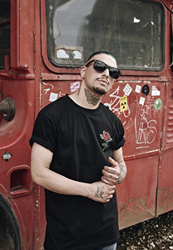 Mister Tee Herren Rose Tee T-Shirt, Black, M