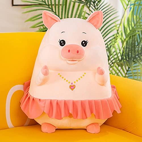 WXLKHFA Almohada de cerdo de peluche juguete de cerdo anillo muñeca durmiendo grande gordo cojín de cerdo regalo de cumpleaños