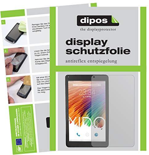 dipos I 2X Schutzfolie matt kompatibel mit XIDO Tablet X111 Folie Bildschirmschutzfolie