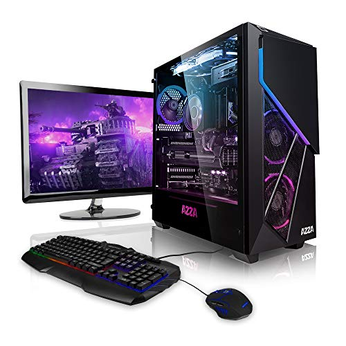 Megaport Gaming-PC Komplett-PC AMD Ryzen 5 5600X 6X 3.7 GHz • 24' Bildschirm + Tastatur + Maus • GeForce RTX3060 12GB • 16GB 3000MHz DDR4 RAM • Windows 10 • 1TB M.2 SSD