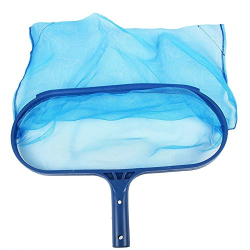 Rongbo Deep-Bag Pool Rake & Swimming Leaf Skimmer Net with Medium Fine Mesh,Fits Most Standard Pole for Cleaning Swimming Pools,Hot Tubs,Spas and Fountains (deep-Bag rake)