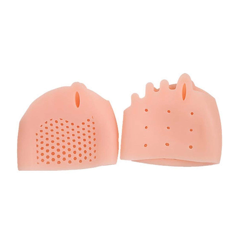 シリアルブルームウェイターSEBS Silicone Toe Separator Honeycomb Forefoot Cushion Pad with 5 Loops Thumb Valgus Corretcor Toe Bracer Foot Care Tool