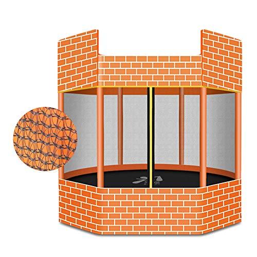 SUIBIAN Castillo Camas elásticas para los niños, 1,3 m de Interior casero Una Mayor Rebote Cama, el bebé Juegos al Aire Libre, Dando un Paso Anti-Jump Tela, Una Mayor Red de protección