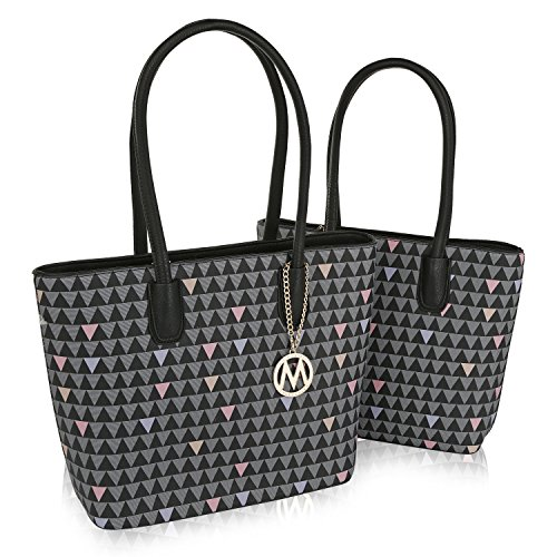 Mia K. Collection Lynn 2 Piece Set Tote/Shoulder Bags by Mia K. Collection