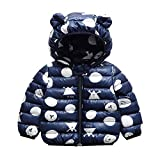 Bebé Chaqueta Invierno, Niños Niñas Abrigo con Capucha Traje de Nieve Manga Larga Outfits Calentar Warmer Regalos Ropa 6-12 Meses,Morado