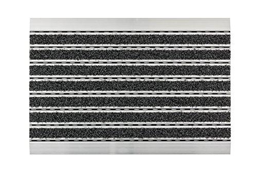 ASTRA Fußmatten – anthrazit – Aluminiumrahmen – sehr robust – feiner oder grober Struktur – Türmatte – Matte – Sauberlauf – 60 x 40 x 1 cm