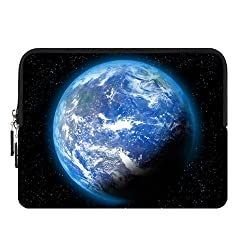 Glowing Galaxy Planet Earth Space Night Light Personalized Custom Zipper Sleeve For Retina IPad Mini 2