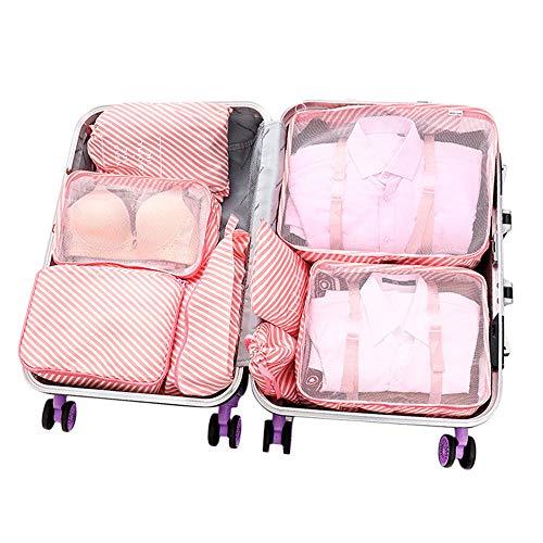 Eagles Packkuber för resor bagage förpackning organisatörer set 8 st resa packkuber organisatörer, reseförvaringsväska packkuber multifunktionella kläder sortering paket