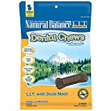 Natural Balance L.I.T. Limited Ingredient Treats Dental Chews Dog Treats, Duck Meal, 13 Ounce Pouch, Small/Medium Size, Grain Free