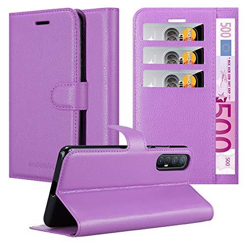 Cadorabo Hülle für Oppo Find X2 neo in Mangan VIOLETT - Handyhülle mit Magnetverschluss, Standfunktion & Kartenfach - Hülle Cover Schutzhülle Etui Tasche Book Klapp Style