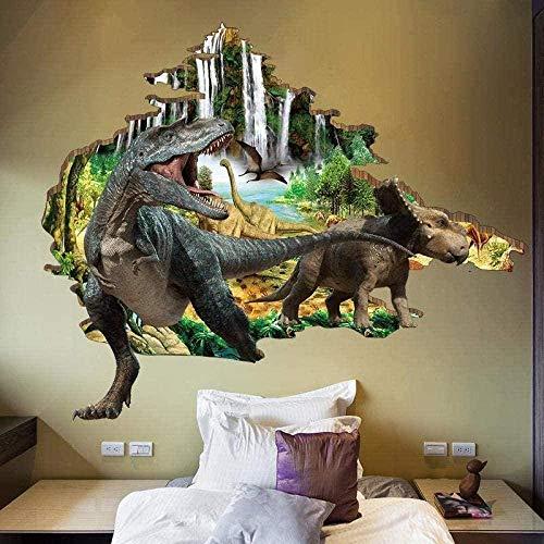 Pegatinas 3D para pared con diseño de dinosaurios, pegatinas 3D para pared, papel pintado para dormitorio de niños, habitación de los niños