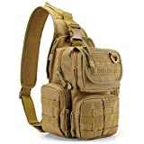 G4Free Tactical EDC Sling Bag Pack with Pistol Holster Sling Shoulder Range Backpack for Concealed Carry