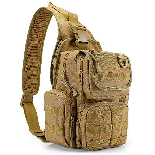 G4Free Tactical EDC Sling Bag Pack with Pistol Holster Sling Shoulder...