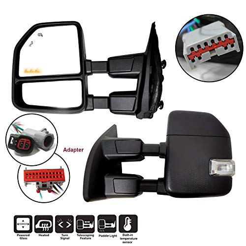 AERDM New Towing Mirror Black Housing with Temperature sensor Fit 1999-2016 Ford...