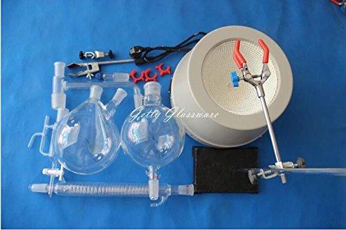 Dampfdestillierer für ätherische Öle, mit 2000-ml-Heizhaube bis 380°C