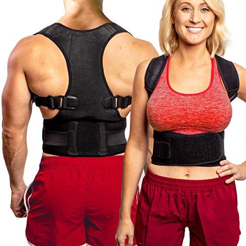 FlexGuard Back Support - Adjustable Back Brace - Posture Corrector Belt w/ Lumbar Support for Lower...