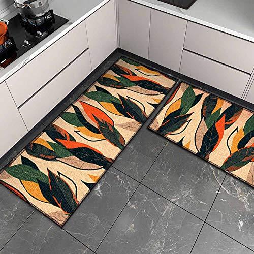 OPLJ Küchenmatte Anti-Rutsch-Türmatte Modernes Wohnzimmer Balkon Badezimmer Geometrisch bedruckter Teppich Waschbare Fußmatte A24 50x80cm
