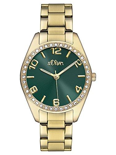 s.Oliver Damen-Armbanduhr Analog Quarz Edelstahl SO-3061-MQ
