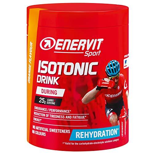 ENERVIT Sport Isotonic Drink | Polvere isotonica per bevande in polvere elettrolita per sport di resistenza | Iso Drink per assunzione regolare durante lo sport (arancione, barattolo da 420 g)