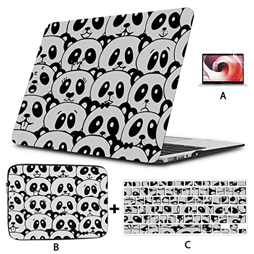 2018 Macbook Air Case Black White Panda From China Case For Macbook Air Hard Shell Mac Air 11'/13' Pro 13'/15'/16' With Notebook Sleeve Bag For Macbook 2008-2020 Version