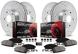 Power Stop K2010 Front & Rear Brake Kit with Drilled/Slotted Brake Rotors and Z23 Evolution Ceramic Brake Pads