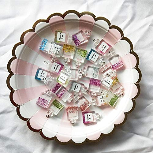LINL 10 unids Moda Charm Resina Perfume Botella Colgante Accesorios Colgantes Accesorios para Joyería DIY Producción Hecho A Mano Collar Pendientes de Joyería