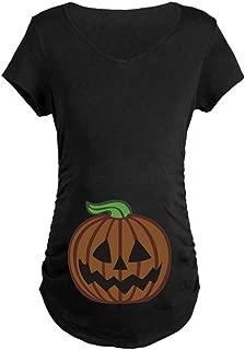 BESSKY Grossesse Maternit/é Tunique Visage Citrouille Manches Courtes Imprim/é Top Halloween T Shirt Femmes Enceintes Autour Enceintes Confortable L/ég/ère Domestiques Blouse Tops