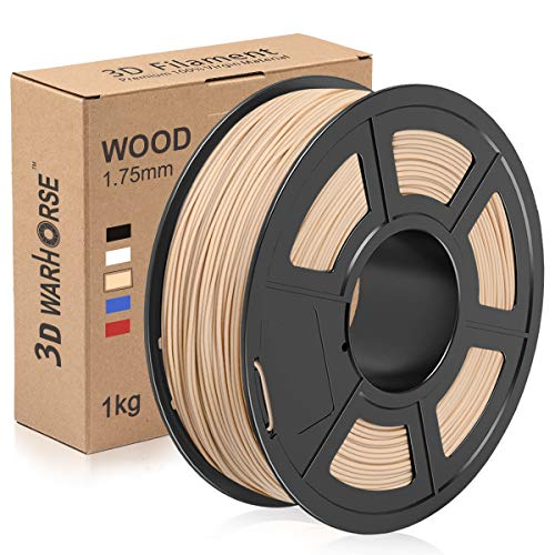 Wood PLA Filament, 1.75mm 3D Printer Filament, Wood 3D Printing 1KG Spool, Dimensional Accuracy +/- 0.02mm, Wood PLA