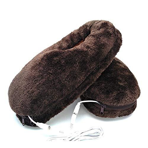HSDCK Calefacción Zapatillas Zapatos, USB eléctrico Zapatillas Zapatos cómodos toallita de Felpa...
