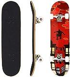 Hikole Skateboard Completo, Pro 31 Pulgadas Monopatín para Adolescentes Principiantes Niñas Niños Adultos, 9 Capas...