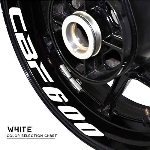 Uytkagz Calcomanías modificadas de la Motocicleta RUELA Rueda Rueda Reflexivo Impermeable Pegatina Decorativa Personalizada Ajuste for Honda CBF600 CBF 600 (Color : Reflective Silver)