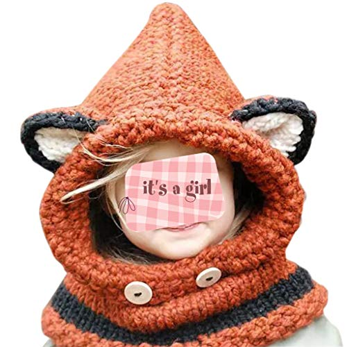 JERKKY kinderen winterhaak gebreide muts wrap cartoon dier oorflap hood sjaal schedel kap B #
