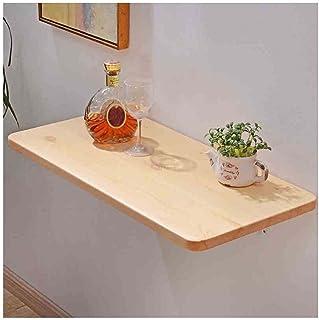 LSXIAO Polyvalent Pliant Table Murale, Établi De Table, Etagère De Rangement 1,8cm D'épaisseur Panneau en Pin pour Garage ...