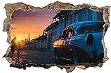 Oldtimer in Cuba Wandtattoo Wandsticker Wandaufkleber D0686 Größe 60 cm x 90 cm