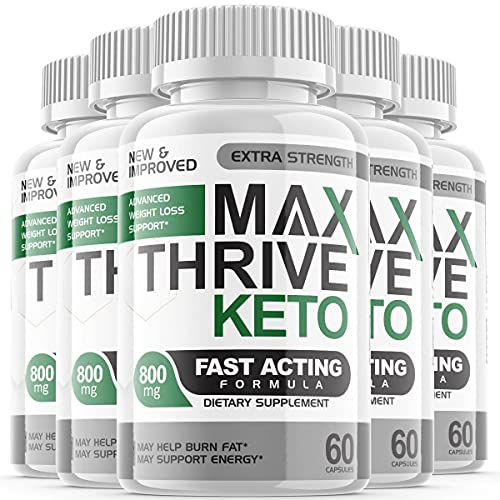 Max Thrive Keto Advanced Weight Management Support Ketosis Supplement Pills (5 Pack)