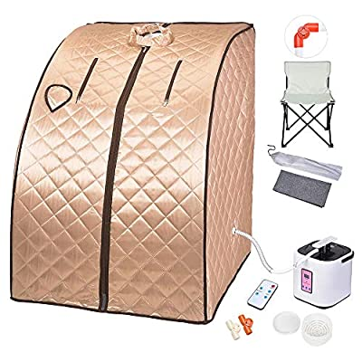 Instahibit 2L Portable Steam Sauna Personal Foldable Spa Tent Detox Therapy Weight Loss Body Slimming Home Bath Chair