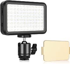 UTEBIT LED Video Light  Pocket Size 3200K-6000K Color Dimmable Slim Camera LED light Panel Fliter Tripod Ball Head with 1 4  Hotshoe Compatible for Canon DSLR Cameras  Light Stand