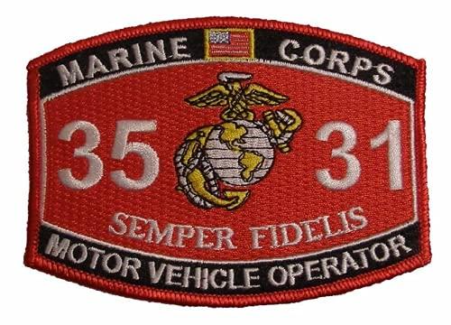 Marine Corps 3531 Motor Vehicle Operator MOS Semper Fidelis Patch USMC EGA by SFI